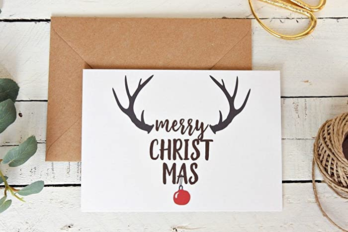 rustic christmas card set holiday card merry christmas cards simple christmas cards
