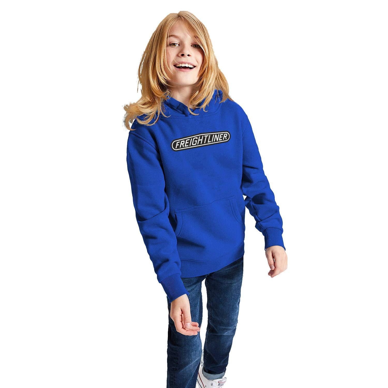 Boys GirlsComfort Sweatshirt Kangaroo Pocket 3D Print Graphic COOLGOOD Freightliner-Trucks