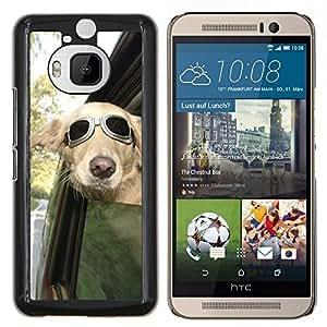 LECELL--Funda protectora / Cubierta / Piel For HTC One M9Plus M9+ M9 Plus -- Piloto Sunglasses ventana de coche del viento --