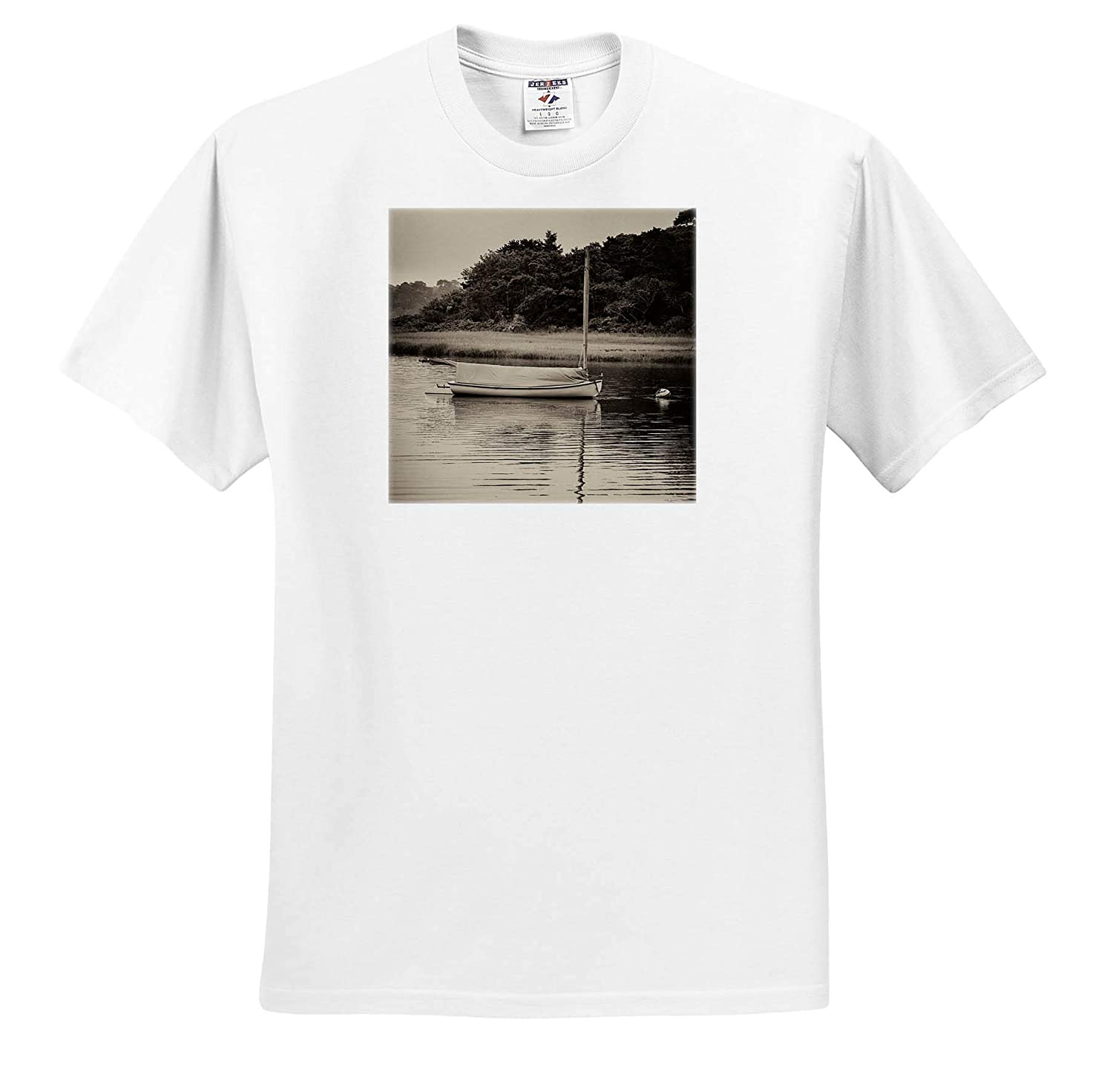 T-Shirts Sailboat and Reflection 3dRose Roni Chastain Photography