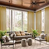 Best GoodGram® Curtains For Living Rooms - ChadMade Indoor Outdoor Solid Sheer Curtain Nickel Grommet Review