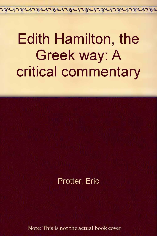 the greek way edith hamilton