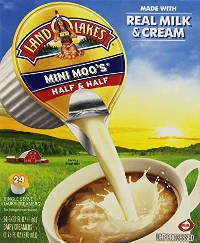 Land O' Lakes Mini Moo's Half and Half, 24 count (Mini Green Creamer)