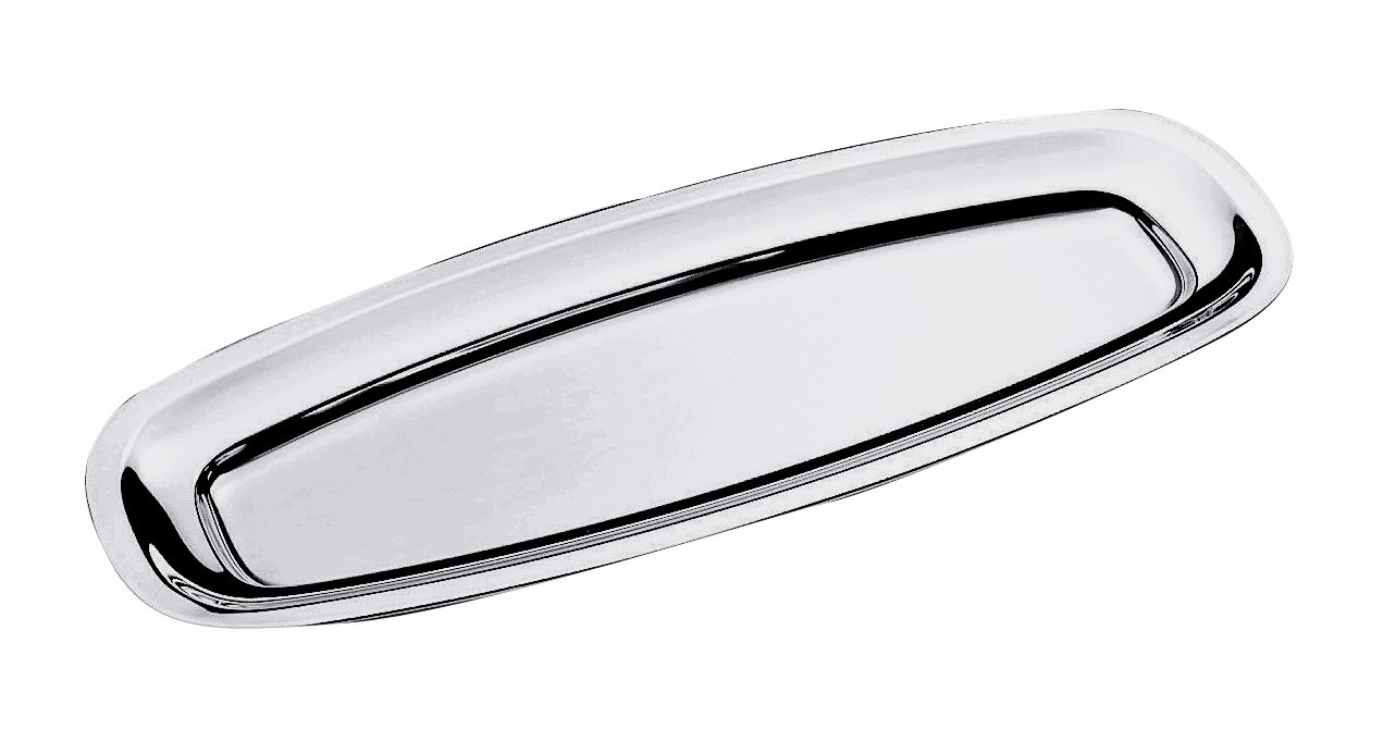 Mepra 70 x 27 cm Oval Serving Fish Plate, Silver 20024370