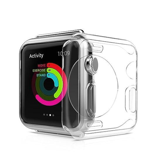 6 opinioni per Custodia Apple Watch 2 38mm, Custodia galvanizzata in TPU Resistente ai graffi