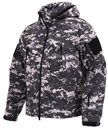 - Rothco Special Ops Tactical Soft Shell Jacket, Subdued Urban Digital Camo, X-Large