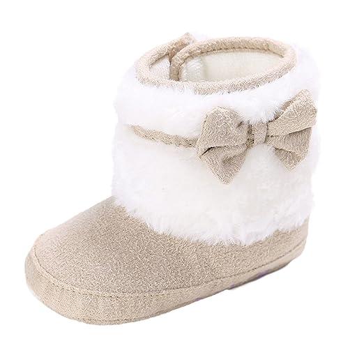 Amazon.com  Winter Boys Girls Soft Sole Snow Boots 5a786c143
