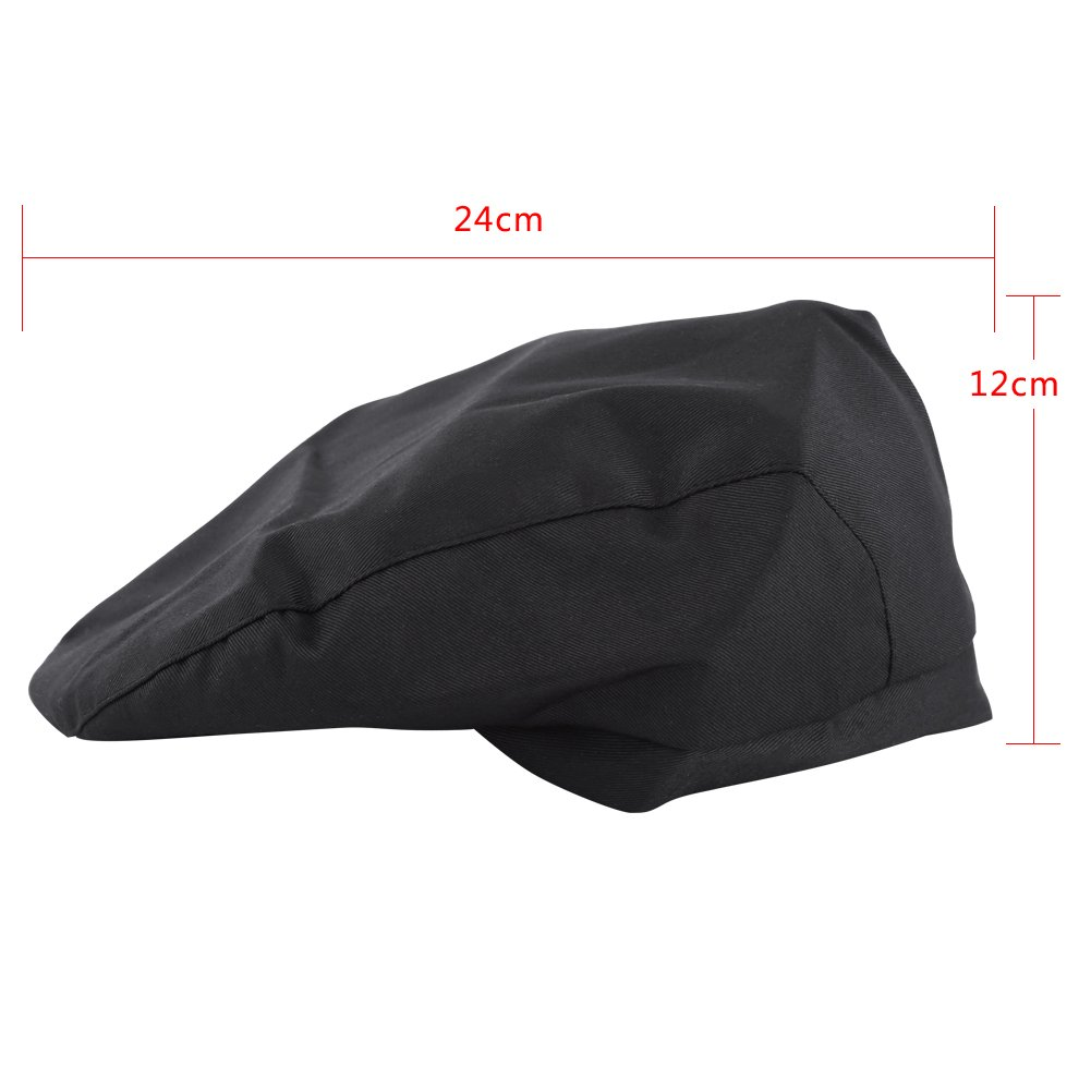 1 Pc Fashion Flat Cap Golf Baker Men Women Chef Hat Catering Baker  Attendant Kitchen Cook Duckbill Beret (Black) - - Amazon.com 354187904eb