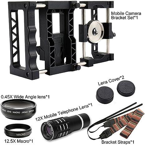 LUXACURY PRO Llave de cámara universal para smartphone (con lente de gran angular y macro y