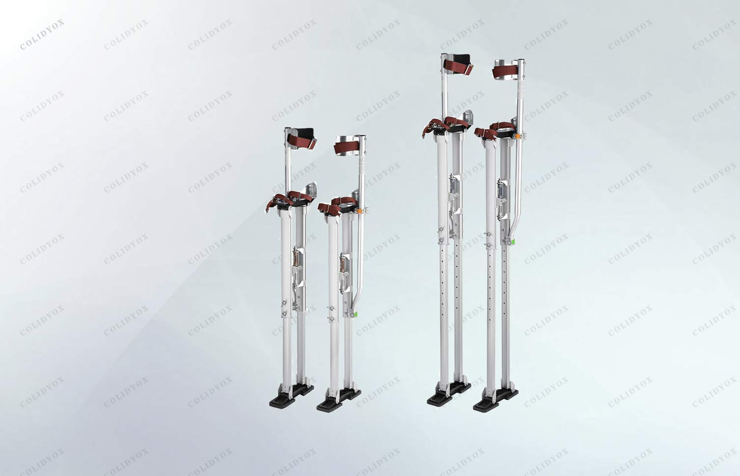COLIDYOX> Drywall Stilts 36-50 Aluminum Tool Stilt for Painting Painter, 3-Position Heel Bracket fit Different Foot Sizes & Prevent Slippage in Every Direction Perfect for Painting,Electrical,Drop...