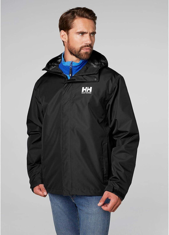 cortaviento y transpirable para hombre y para uso diario Helly-Hansen Seven J Chaqueta impermeable con forro de secado r/ápido