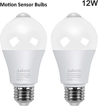 Aukora Motion Sensor Light Bulbs