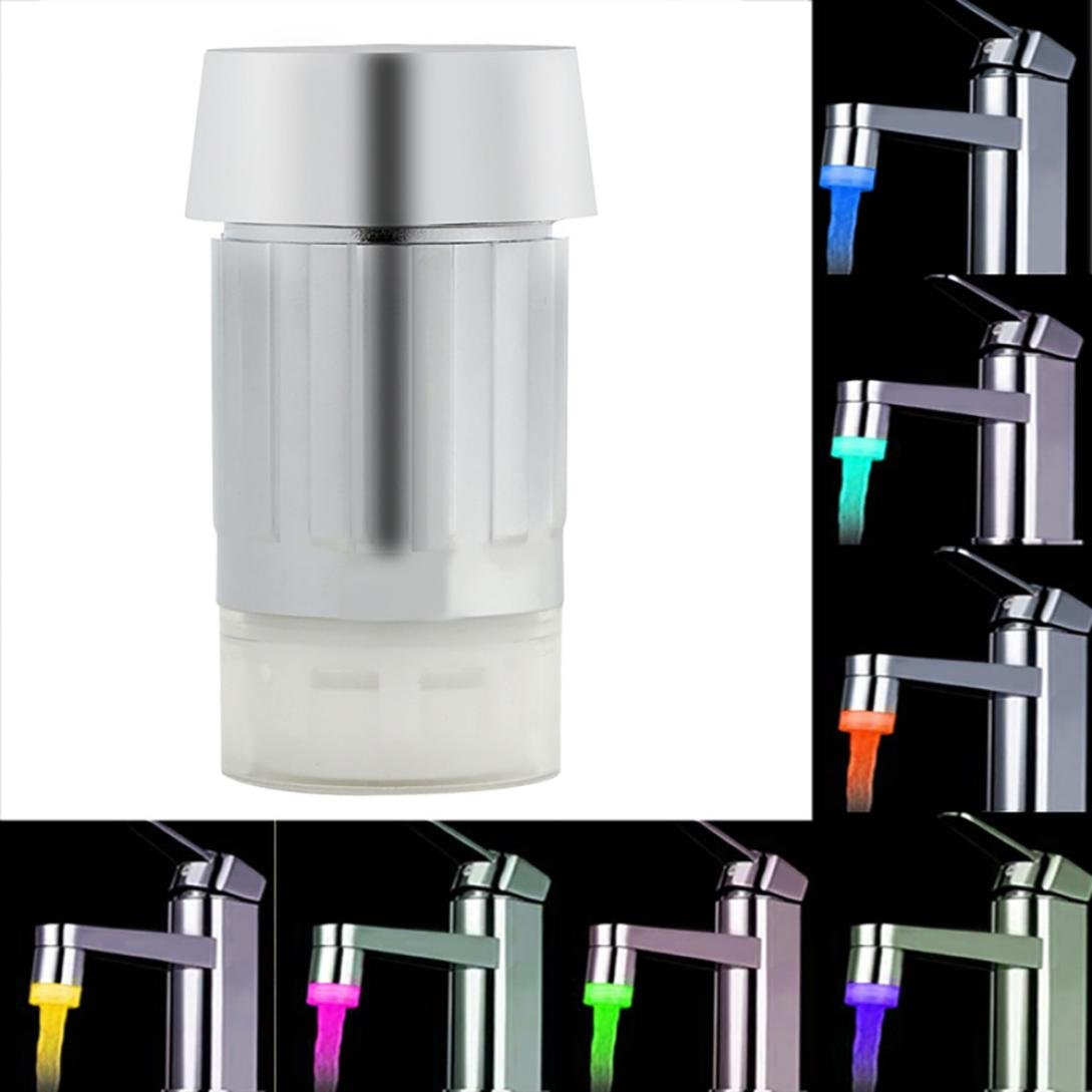 certainPL Water Glow LED Faucet Light Temperature Sensor for Home Kitchen (7 Color)