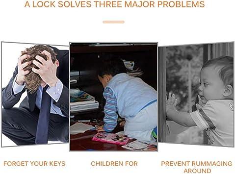 ShangSky K/ühlschrankschloss f/ür Kinder,3 Digital Passwort Schranksicherung,Kindersicherung Fensterschl/össer,f/ür K/ühlschrank Schrank Fenster