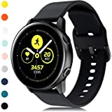 RIOROO Compatible for Samsung Galaxy Watch Active Bands/Active 2 Bands 40mm/42mm/44mm,Women Men Soft Slim Silicone Wristband Compatible for Samsung Galaxy Watch Gear S2 Classic/Gear Sport Smart Watch
