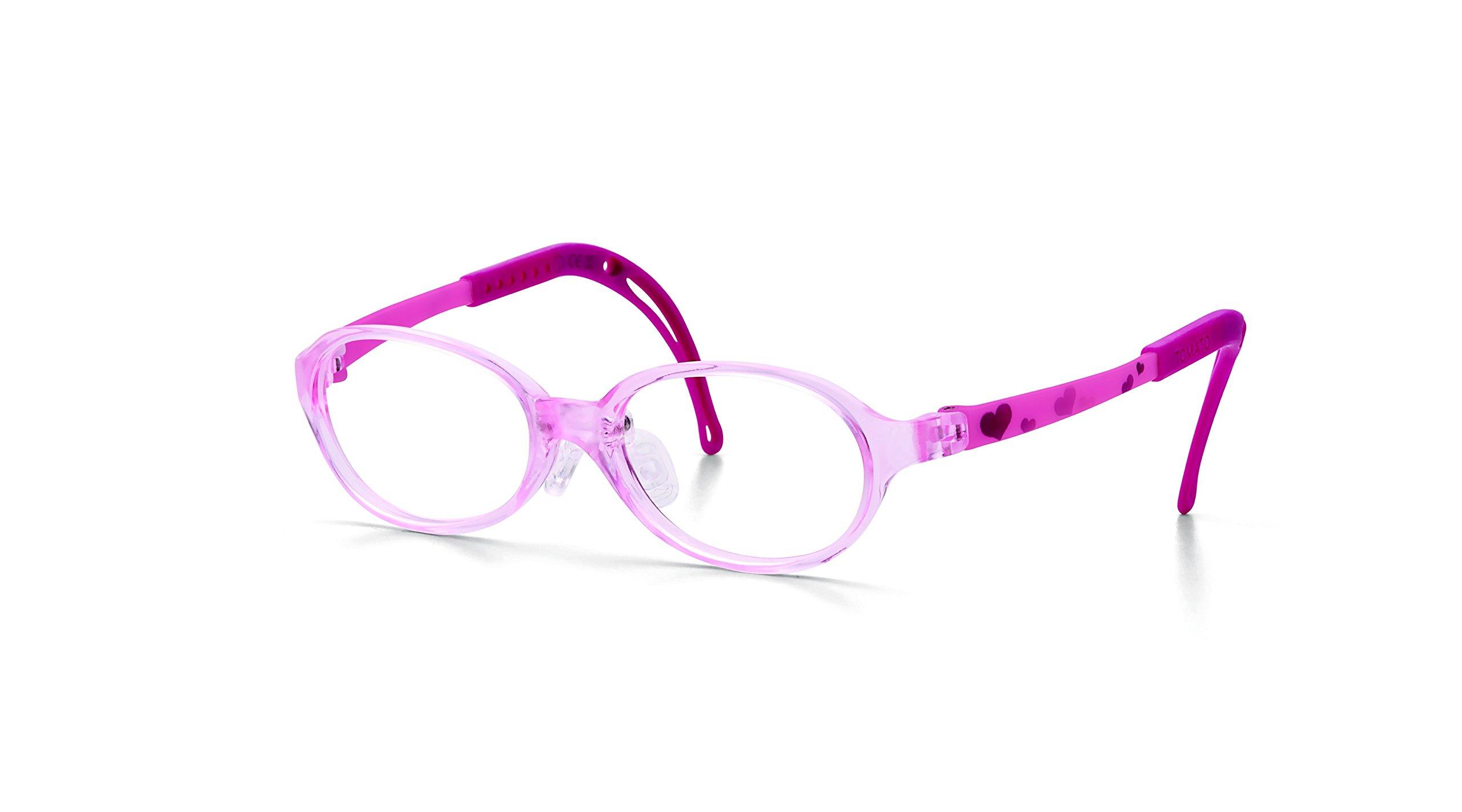 Tomato Glasses Frames Specialized for Kids : non-slip, adjustable, ultralight, & safe(FDA approved) (45 ㅁ 16)