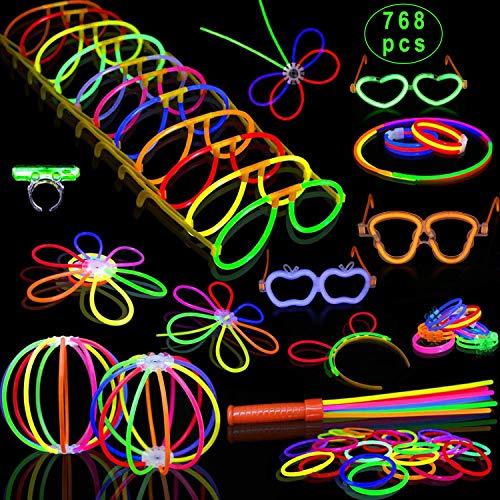 Glow Stick Hats (Inifty Glow Sticks Bulk - 8