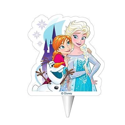 Dekora-2D Olaf Vela de Cumpleaños 2D Frozen con Elsa, Anna Y Ola, Multicolor, 8 cm (346212): Juguetes y juegos