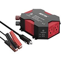 Bestek 400-watt DC 12V to AC 110V Car Power Inverter with 5A 4 USB Charging Ports