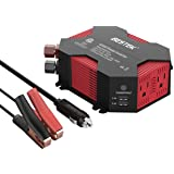 BESTEK 400W/500W DC 12V 110V Inverter with 4 USB Charging Ports, Power Converter with 2 AC Outlets Battery Clip Charger…