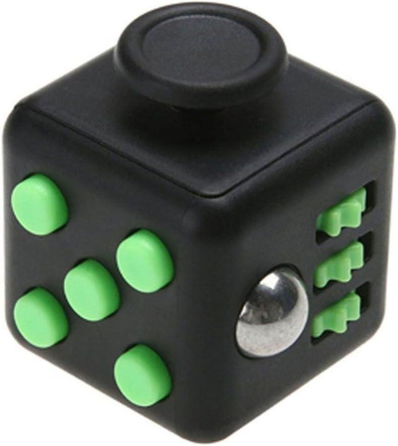 AimdonR Cube 12 faces, jouet anti stress et anti dépression pour enfants et adultes vert