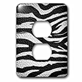 3dRose lsp_173295_6 Wild Africa Two Tone Leather Look African Zebra Pattern Safari Animal Print Light Switch Cover