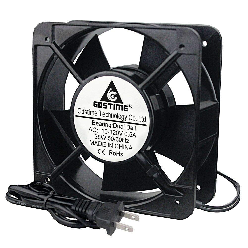 GDSTIME AXIAL Fan 15050, 110V 120V AC 150mm Fan, Ventilation Exhaust Projects Cooling Fan