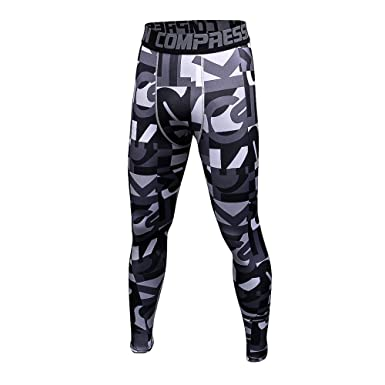 d96767f4f0 1Bests Men's and Youth Boy Gym Workout Leggings Running Fast Drying Elastic  Compression Tight Pants (