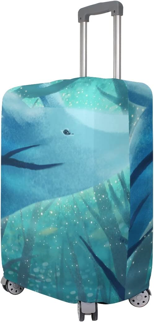OREZI 3D Whale In The Sea World Luggage Protector Suitcase Cover 18-32 Inch
