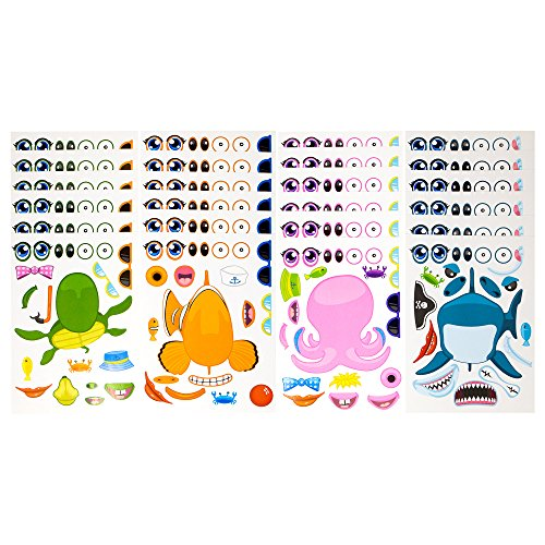 24 Pack Make-A-Sea Sticker Sheets - Stickers Of All Your Kid