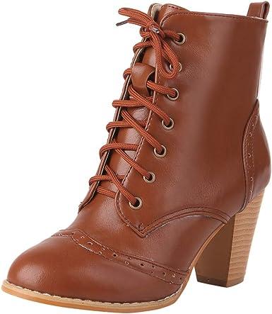 ZARLLE_ Hombre Zapatillas Botas de Mujer otoño,Botas de Cuero con ...