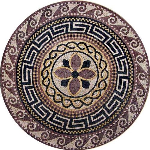 Mosaic Art Wall Accent Tile (Marble Mosaic Medallion Stone Art Tile Floor Wall, 48)