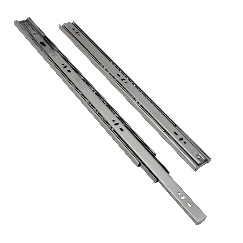 2 ST/ÜCK Schubladenschienen 450 mm Hochwertige Vollausz/üge Schubladenausz/üge mit Selbsteinzug Kugelf/ührung Tragkraft 35 Kg wolketon 1 Paar
