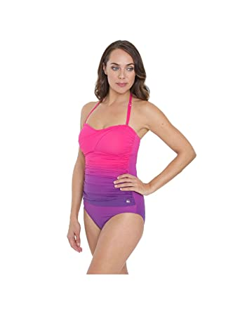 d271715c5226f Seaspray SY006443A Women's Pink Solid Colour Costume One Piece Swimsuit 10