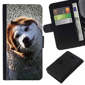 All Phone Most Case / Oferta Especial Cáscara Funda de cuero Monedero Cubierta de proteccion Caso / Wallet Case for Sony Xperia M2 // Alaskan Malamute Border Collie Dog