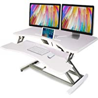 FORTIA 83cm Wide Height Adjustable Sit or Stand Standup Desk Riser, White