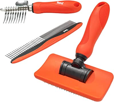 Benz Dog Grooming Tools Kit Slicker Brush Dematting Rake Tool Metal Dog Comb Pet Grooming Kit Professional Dog Groom Supplies Amazon Co Uk Pet Supplies