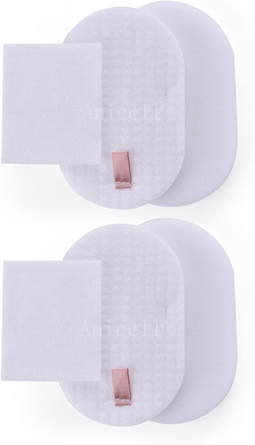Anicell 2 Pack for Shark Replacement Rocket Powerhead Foam & Felt Filter Kit for AH400, AH401, AH452, AH454 Vacuum Cleaner - Part #XFFH400