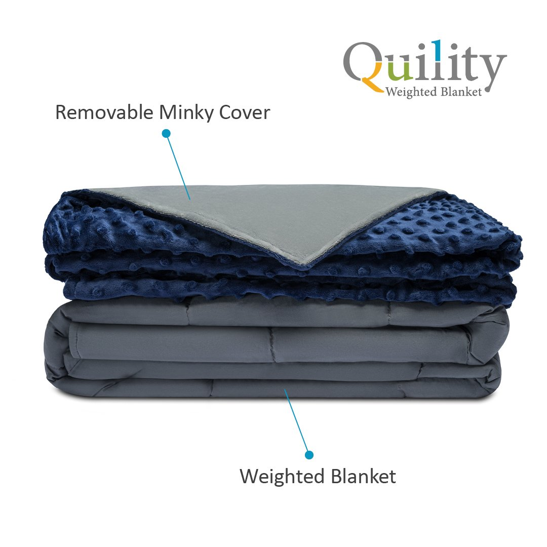 Quility Premium Adult Weighted Blanket Compression Therapy for Anxiety, Stress, Insomnia, ADHD