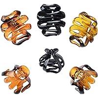YMHPRIDE 6 stuks grote haarklauwen clips, octopus grepen, sterke greep voor dik haar, antislip grip kleurrijke acryl…