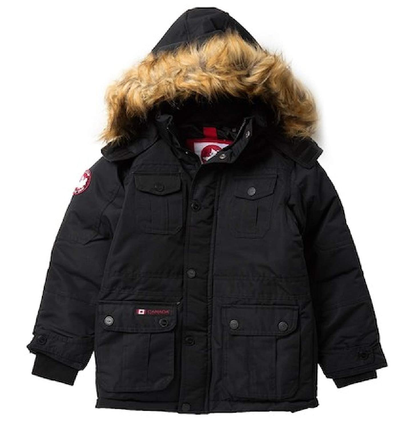 CANADA WEATHER GEAR Big Boys Faux Fur Jacket