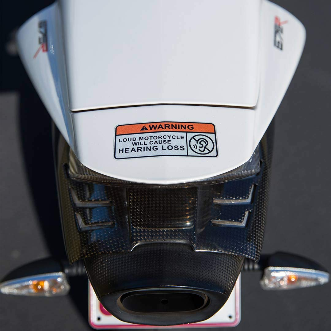 Drop A Gear and Disappear in The Event You Notice Flashing Blue and Red Lights in Your Mirror Riders and Gifts Funny Attention Sticker for Motorcycles 2 Pack