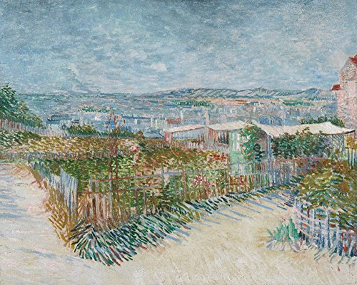 Montmartre: Behind the Moulin de la Galette - Masterpiece Classic - Artist: Vincent Van Gogh c. 1887 (24x36 SIGNED Print Master Giclee Print w/Certificate of Authenticity - Wall Decor Travel ()