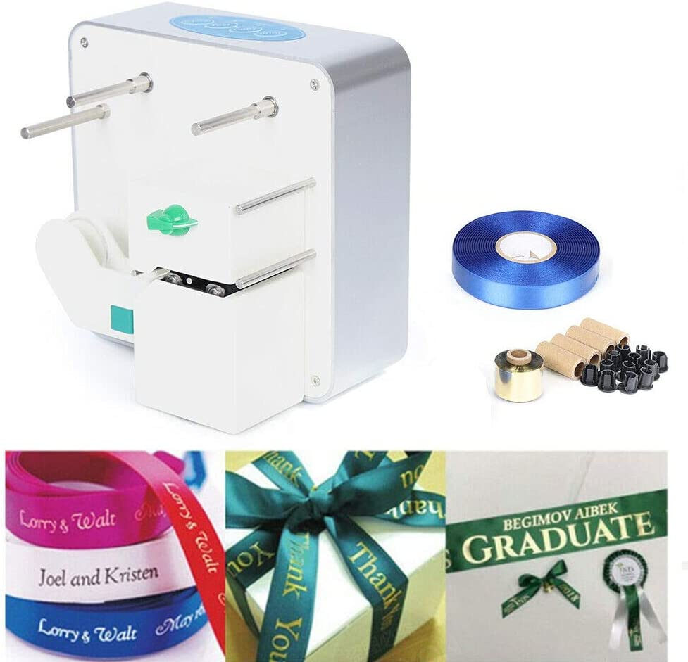 Streamer Stamping Machine, Digital Ribbon Printer Printing Machine Hot Foil Stamping Gift Packing New Desktop Thermal Transfer Satin