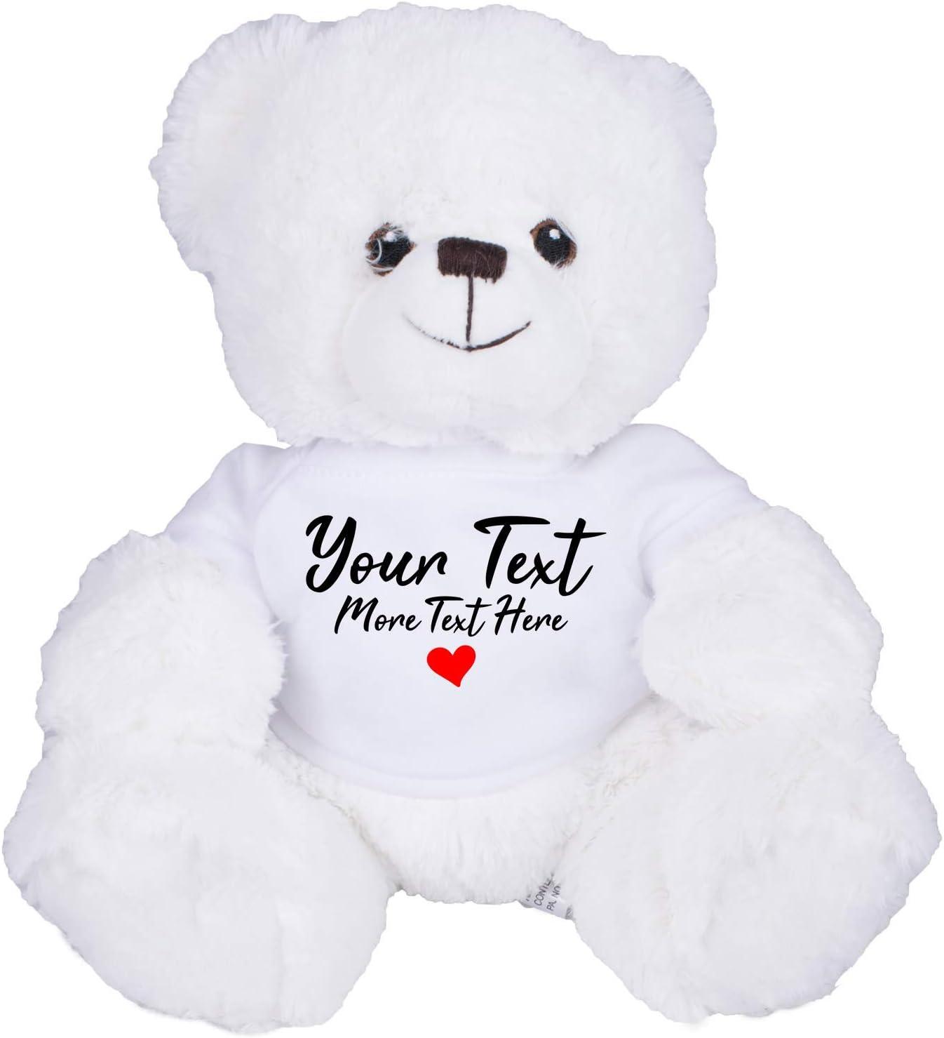 Personalised Teddy Bear 30cm Lovely Birthday Gift Boy or Girl Print Soft TEDDY 1