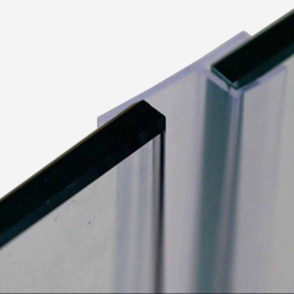 Glass Door Seals Frameless Sash Screen Shower Stall Sealing Silicone Draft Stopper 8mm 5/16 inch Glass 1 Meter 3.28 Feet Big h
