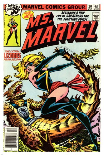 Ms Marvel comic strip Poster 1978 Sexy cartoon Action figure Collectors