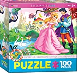 """EuroGraphics Cinderella 100-Piece Puzzle. Box size: 8"""" x 8"""" x 2.37"""". Finished Size: 13"""" x 19"""". What a beautiful day to be a Princess! Cinderella has finally met Prince Charming! Strong high-quality puzzle pieces. Made from recycled board and ..."""