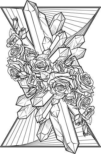 Icon Stack - Shinobi Stickers Black and White Flower Crystal Prisms Geometric Art Icon - Triangle Stack Vinyl Sticker (4