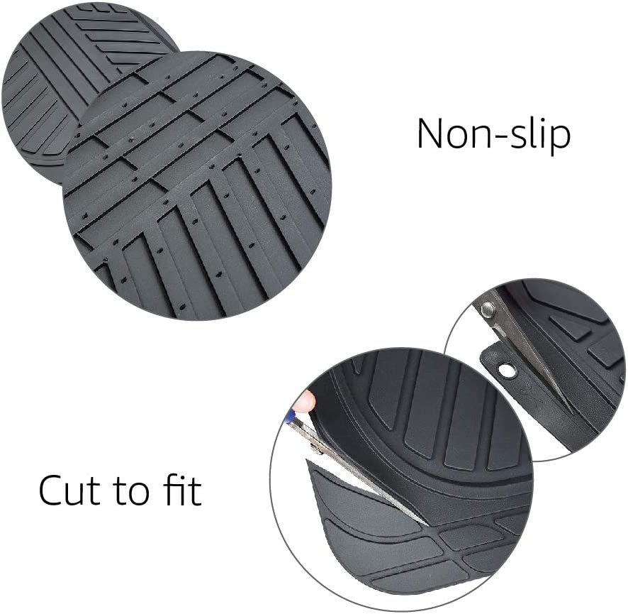Black SUVs and Trucks Basics 3-Piece Full Coverage Rubber Floor Mat for Cars
